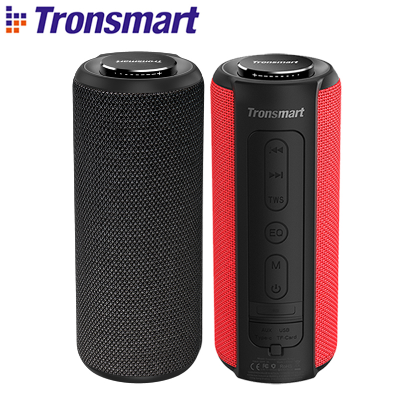 Tronsmart T6 Plus Bluetooth Speaker 40W Portable Speaker Deep Bass Soundbar with IPX6 Waterproof, Power Bank Function SoundPulse