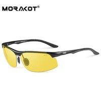 MORAKOT Men Photochromic Sunglasses Night Vision Driving Sunglasses 100% Polarized Sunglasses Anti glare Sun Glasses BS008033YS
