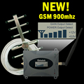 Новый 16dBm ЖК-Дисплей GSM 900 мГц Усилитель Сигнала GSM 900 65dB Сотовый Телефон Сотовый Сигнал Повторителя Усилитель + GSM Яги антенна