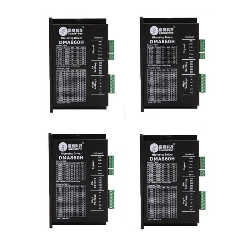 4pcs/lot Leadshine DMA860H Stepper Motor Controller driver DC 24-80V for 86/110 2 Phase stepper motor replace MA860H MA860