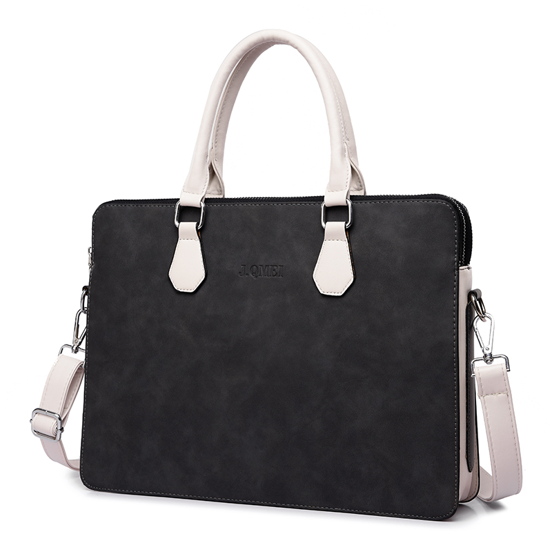 Fashion Waterproof PU Leather <font><b>Laptop</b></font> <font><b>bag</b></font> case women Shoulder <font><b>Laptop</b></font> <font><b>bag</b></font> 13 <font><b>13.3</b></font> 14 15 15.6inch for Macbook Air Pro handbag black image