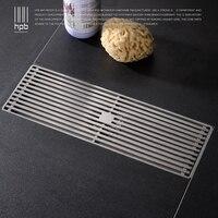 HPB 30*10cm Bathroom Drains Linear Drain Odor Resistant Stainless Steel Shower Floor Drains Brushed Bathroom Accessories HP7911