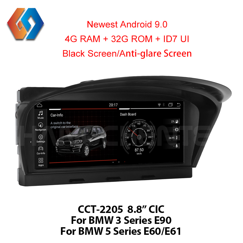 For BMW E60 E90 Android 9.0 Car Multimedia GPS Navigation WiFi BT Multi point Touch Screen Phone Mirror CIC System Nav Unit 5