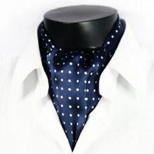 Модный винтажный брендовый мужской длинный шарф из шелка/шарф в черный горошек на весну, осень и зиму