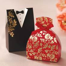 Factory Fast Delivery Wedding Favor Mysterious Oriental Dress The Bride And Groom Favor Box Wholesale(China)