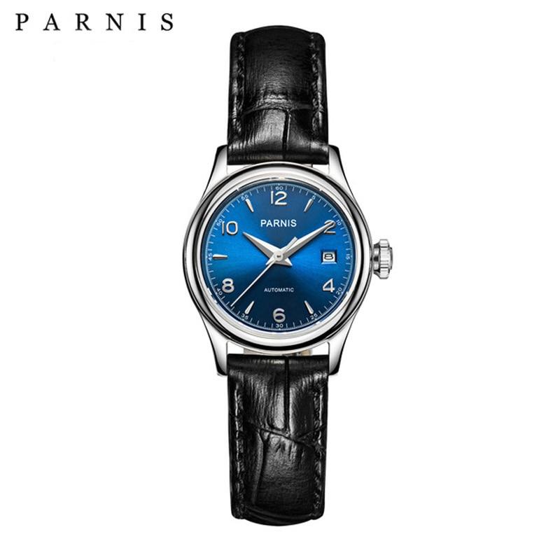 Parnis Royal Women Watch 27mm Luxury Brand Top Ladies Watches Mechanical Sapphire Crystal Japan Miyota Movement