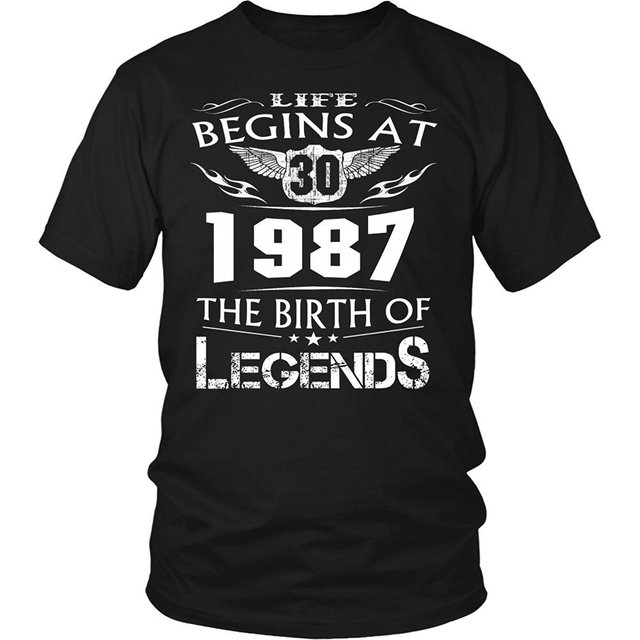 45433d1ac 2018 New Life Begins At 1987 - 30 The Birth Of Legends T shirt Born in  1987, 30 Years Old Best Gift For 30th Birthday Tee Shirt