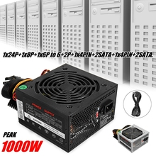 Max 1000 w Alimentation PSU PFC Silencieux Ventilateur ATX 24pin 12 v PC Ordinateur SATA Gaming PC Alimentation pour Intel AMD Ordinateur