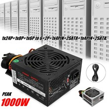 Max 1000W Voeding Psu Pfc Stille Ventilator Atx 24pin 12V Pc Computer Sata Gaming Pc Voeding voor Intel Amd Computer(China)