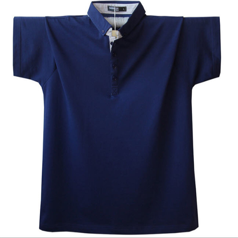 Classic Summer Short Sleeve Cotton Men   Polo   Anti-Wrinkle Anti-Pilling Plus Size Male Solid Camisa   Polo   Shirt L-4XL A1591