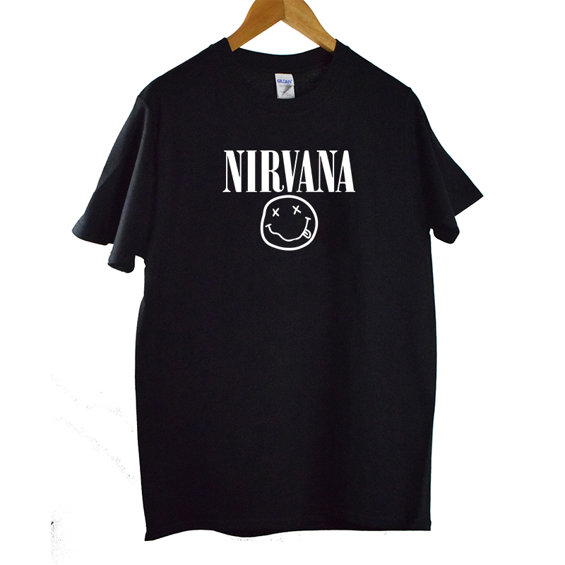 Nirvana   T  -  shirts   Men/Women Summer Harajuku Cotton Tops Tees Print   T     shirt   Men loose o-neck short sleeve Fashion Tshirts