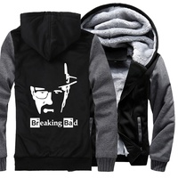 thick zip keep warm hoodies I Am The One Who Knocks Heisenberg sweatshirts 2019 Breaking Bad Men's jackets Hip Hop coats Homme