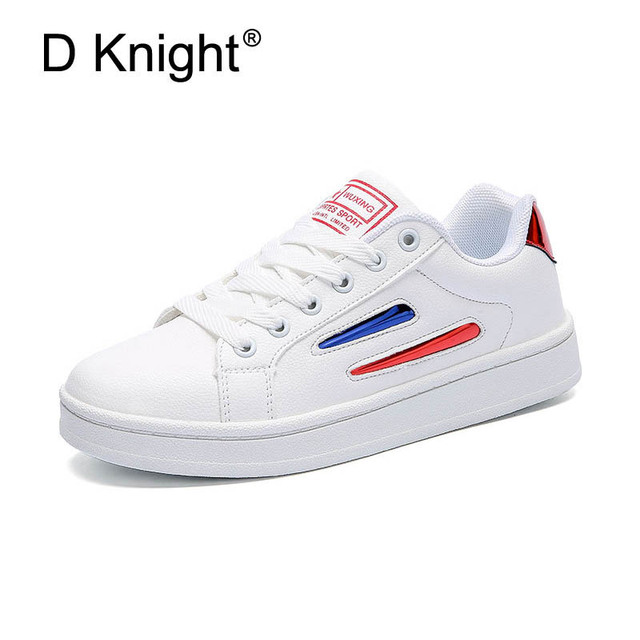 0fed71a3f0b D KNIGHT Women Casual Shoes Plus Size 36-44 Creepers Platform Shoes Woman  2018 New Fashion Flats Loafers Lace-Up Women s Shoes