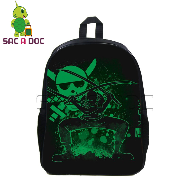 0a45b3e5514 Cool Anime One Piece Fluorescence Backpack School Backpack Womens Mens  Travel Backpack Teens Boys Girls Luffy Zoro School Bag-in Backpacks from  Luggage ...