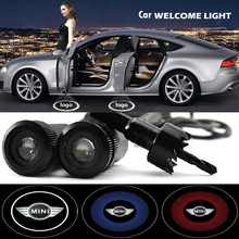 2 x Car Door Light Laser Welcome Ghost Shadow Projector Logo Light For mini cooper clubman convertible countryman hardtop coupe