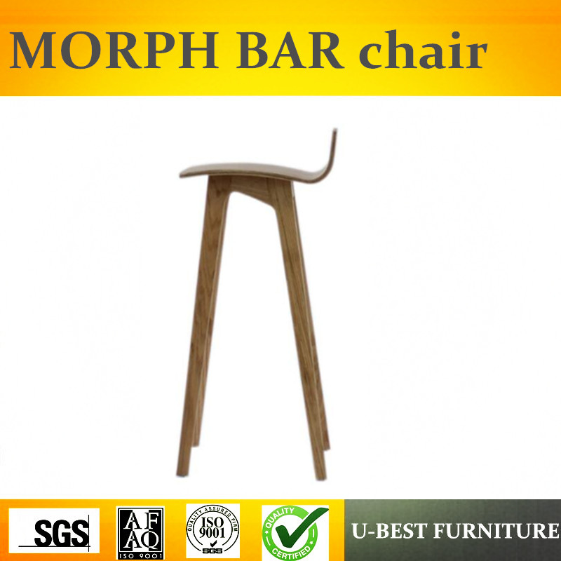 Free Shipping U-BEST Morph Counter Barstool Cafe Shop Bar Chair, Hot Sale Living Room Furniture Ottoman Wooden Barstool
