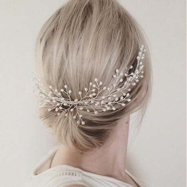 Aliexpress Com Hochzeit Dekoration Haar Schmuck Fur Frauen Perlen