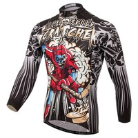 Popular XINTOWN Bike Long jersey Red Skull MTB Team Cycling clothing Riding Bicycle Top Wear Men Maillot Long Sleeve Shirts