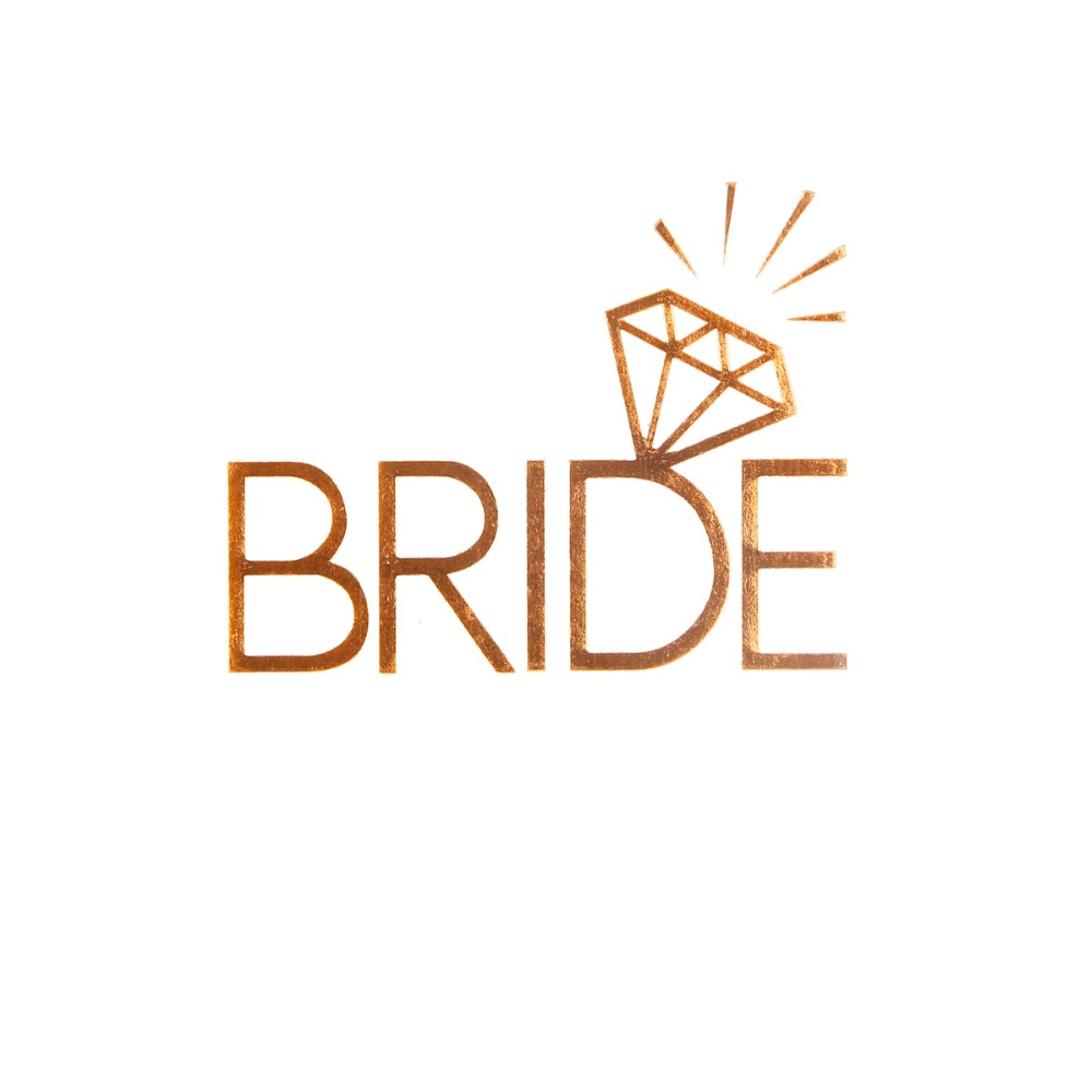 FENGRISE Gold Team Bride Temporary Tattoo Stickers Bachelorette Party To Be Bridal Shower Favors