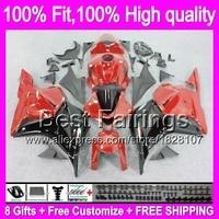 Fairing Injection For HONDA CBR600RR 09 10 11 12 Red black 27B18 CBR 600RR 600 RR F5 CBR600 RR Red 2009 2010 2011 2012 +decal