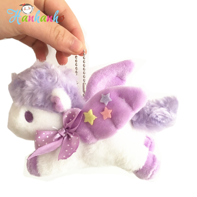 Cute Unicorn Plush Toy Small Pendant Stuffed Horse Unique Promotion Gift Baby Infant Girls Toys 12cm bookfong 1pc 35cm simulation horse plush toy stuffed animal horse doll prop toys great gift for children