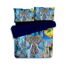купить Bohemia Elephant print Duvet Cover Set 3pcs Mandala Style Double Queen King Size Bedclothes Bed Linen boho Bedding Sets дешево