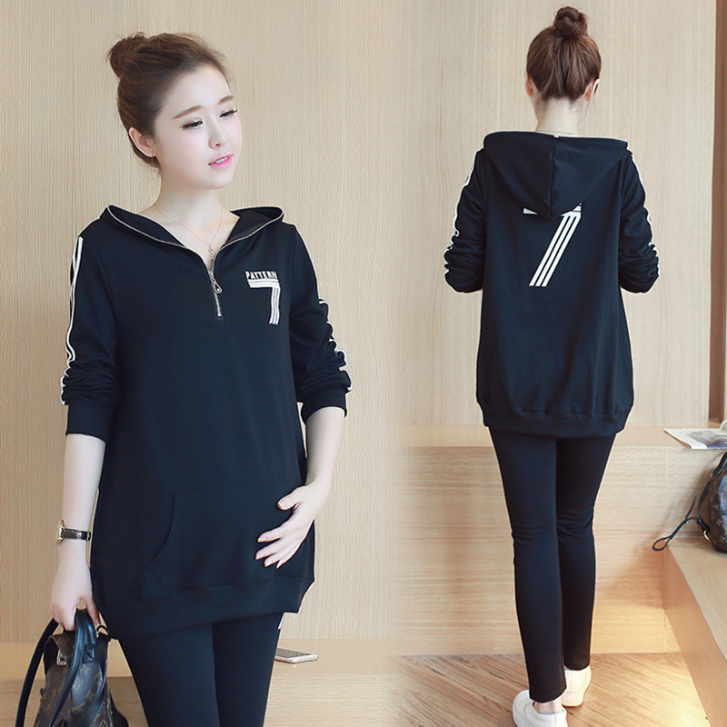 Maternity Top Leggings Suits Pregnant Long Sleeved T shirt Sets Spring Clothes for Pregnant Women Autumn Sports Clothing C435