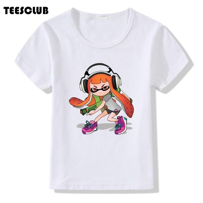 Baby Boys Girls Summer T shirt 2018 Cute Colorful Splatoon Printing Tshirt Kids Funny Stay Fresh Design Tee shirt Children Top