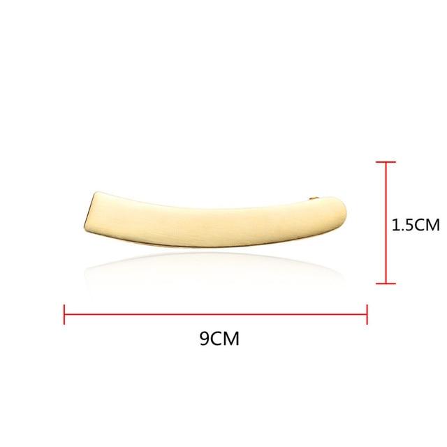 Простая металлическая заколка в виде банана chimera элегантные