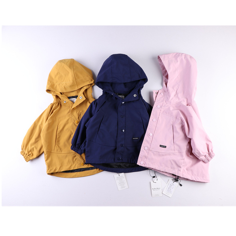 PAPI BEARS Store Spring Autumn Kids Fashion Hooded Jacket Outerwear Children Solid Pink Yellow Navy Colour Boy Girl Jackets Girls Outerwear Coats