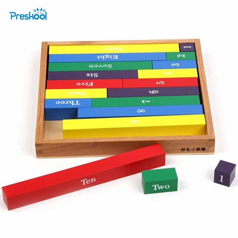 Kūdikių žaislas Skaitmeniniai strypo strypai Montessori matematika - Mokymasis ir ugdymas