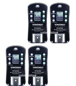 Image 1 - 4 x YongNuo RF 605=RF 603+RF 602 N Wireless Remote Flash Flashes Trigger Shutter Release Transmitter Receiver for Nikon SLR DSLR