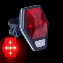 Bicycle Light Bike Mount on the Mudguard Red Safe Warning Taillight Rear Discolor Flashlight New