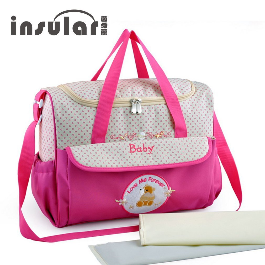 INSULAR Brand Baby Nappy Diaper Bag Large Capacity Multifunction Mummy Shoulder Bag For Stroller Nappy Bags Baby Care