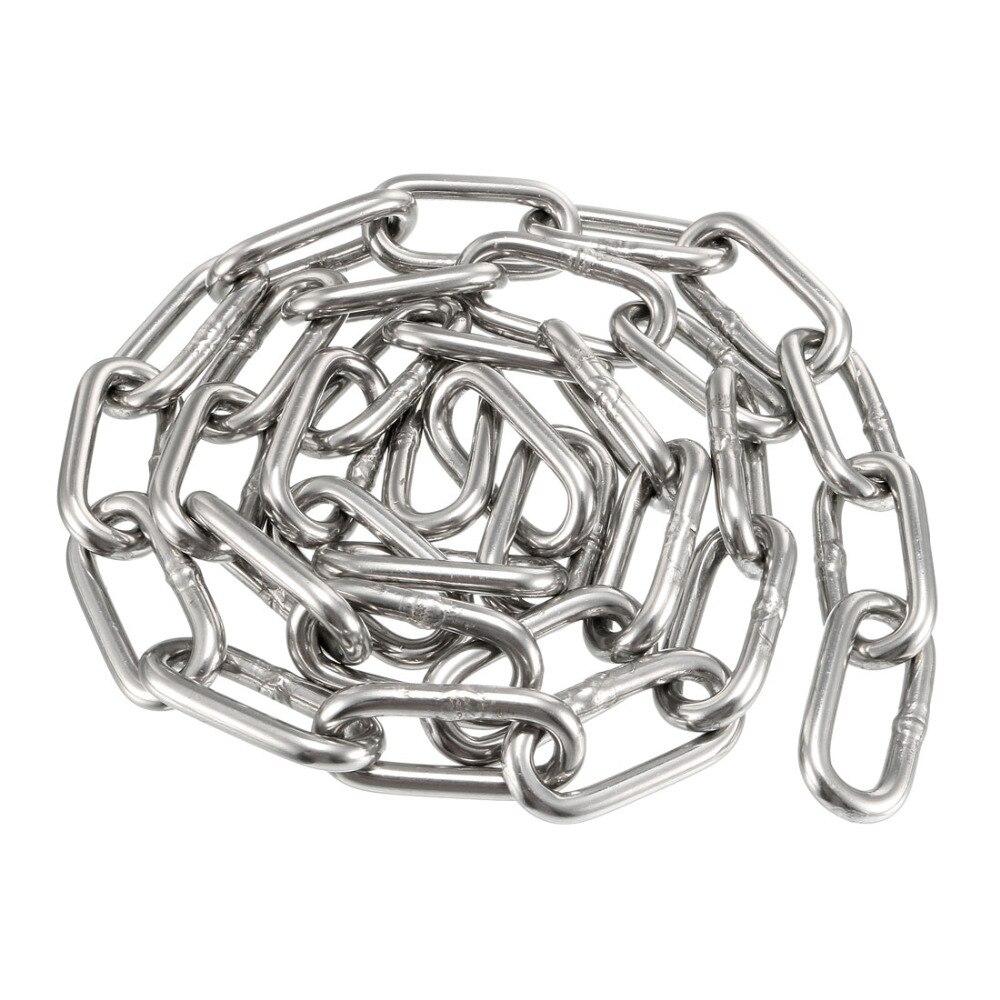 Ketten Gerade Uxcell 1 Stücke 5 M/4,5 M/3 M/1 M Lange 5/4/3 /2/1,5mm Dicke Verzinkt Edelstahl 304 Gehärtet Proof Coil Kette Multi-verwenden