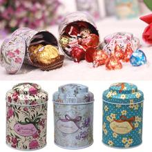 1Pcs/Lot Wholesale Butterfly Knot And Line Drawing Style Kitchen Tea Sugar Coffee Storage Tin Box Portable 7*5.5cm