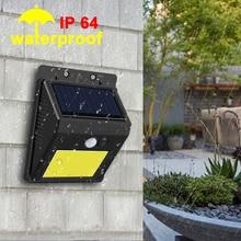 EeeToo LED פנס עמיד למים חיצוני קיר רחוב אור חיישן תנועת שמש מנורת גן חירום LED לילה אור כביש נורות