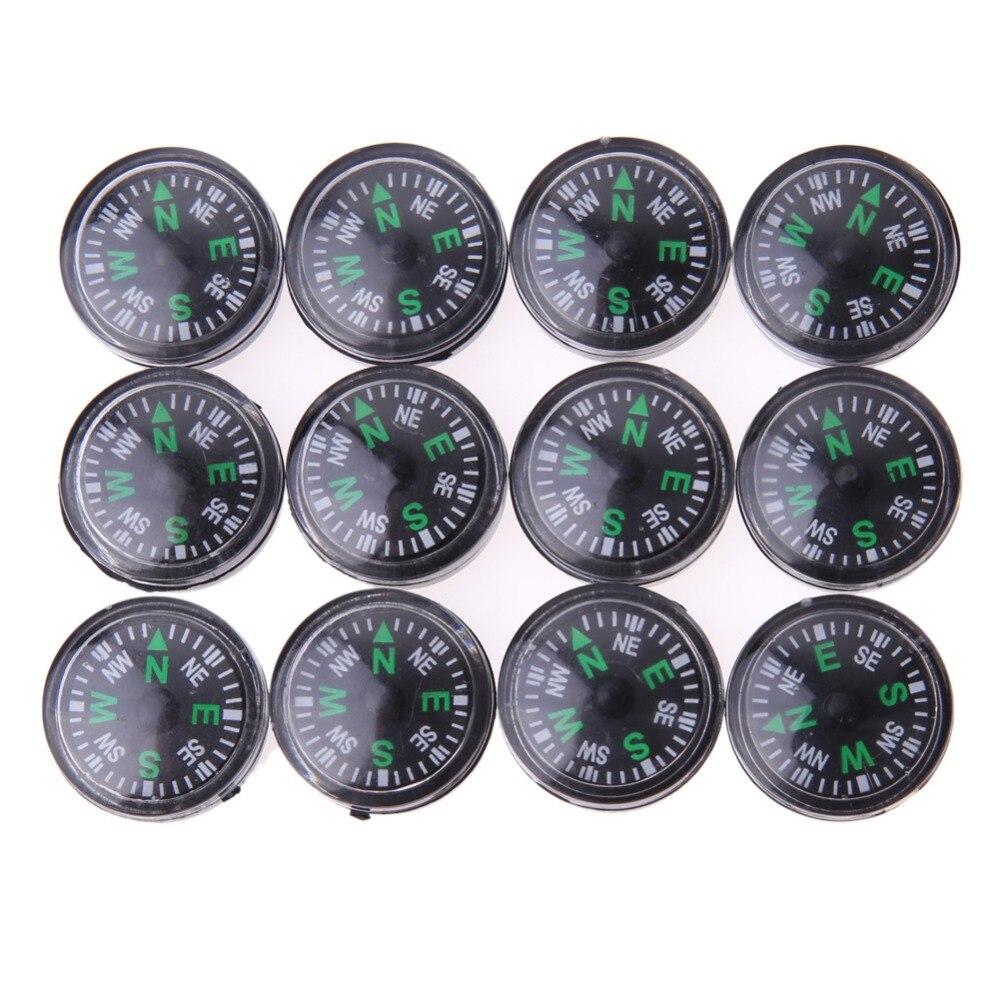 Мини-компасы-кнопки, портативный ручной компасы для спорта на открытом воздухе, кемпинга, путешествий, охоты, экстренного выживания, 12 шт./де...