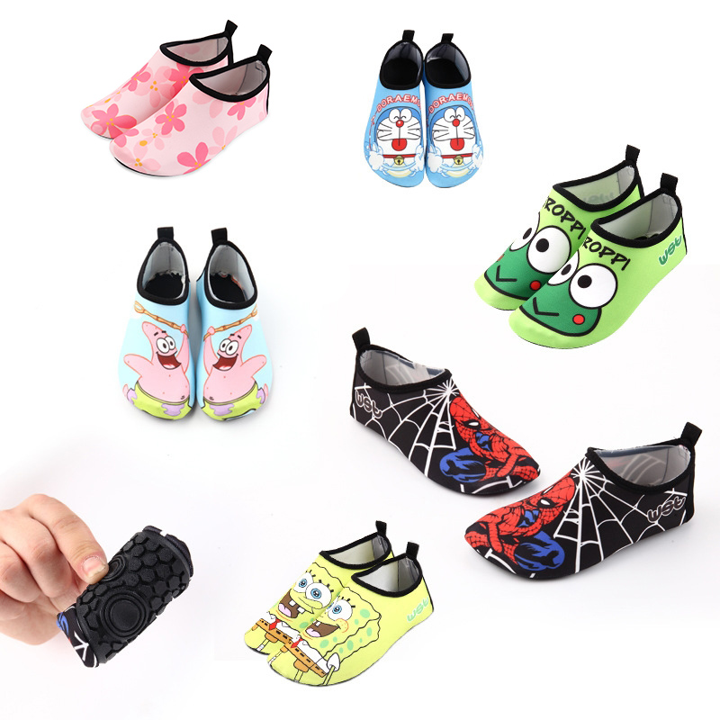 Kids Beach Summer Outdoor Wading Shoes Swimming Surf Sea Slippers Quick-Dry Aqua Shoes Boys Girls Soft Foldable Water Shoes