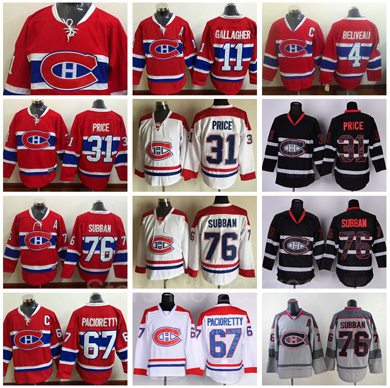 8c9ee13429f Quality Assurance 2016 NEW Montreal Canadiens Jersey Ice Hockey Red Lace 31  Carey Price 76 PK Subban 67 Max Pacioretty 11 Gallag