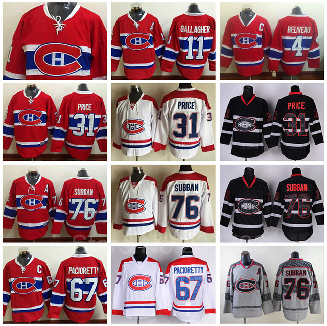 Quality Assurance 2016 NEW Montreal Canadiens Jersey Ice Hockey Red Lace 31  Carey Price 76 PK Subban 67 Max Pacioretty 11 Gallag 02dd07eae