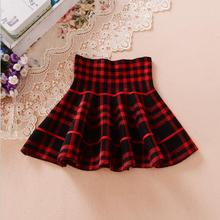 Autumn Winter Girl Skirts 2017 Bottoming Pearl Princess High Waisted Sk