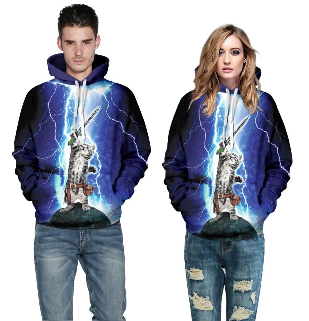 mejor selección d2ce9 59c83 2015 otoño estilo moda lindo 3D Cat Warrior Lightning ...