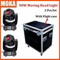 2 Pcs/lot High Quality 90W  LED Spot Moving Head Light With Flight Case 110v-220v Stage Light Using for Club Bar Outdoor