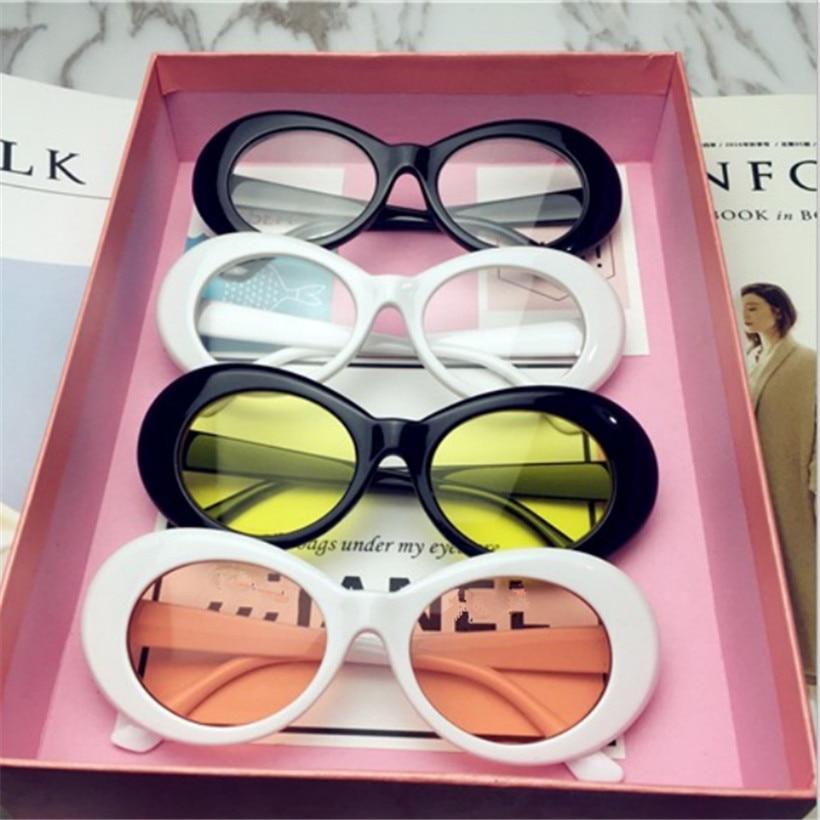 UVLAIK NIRVANA Kurt Cobain Sunglasses Pria Wanita Clout Goggles Sunglasses Retro Oval Kacamata Matahari UV400 Desain ...