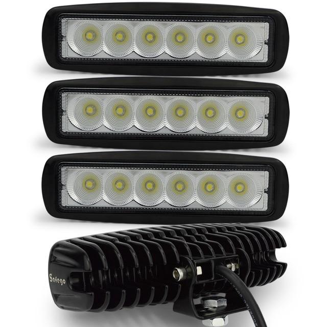 4 шт. внедорожный бездорожью автомобиль 18 Вт светодиодные бар световой 6 LED 4X4 18 Вт светодиодные бар led 12 В/24 В АПА ATV 18 Вт worklight led