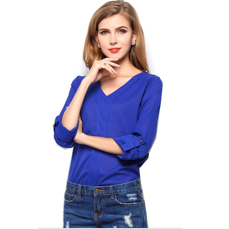 Plus Size Chiffon Women Blouse Camisas Blusas Femininas ...