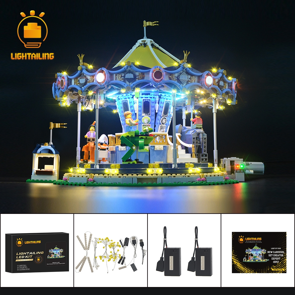 LIGHTAILING LED Kit de Lumière Pour Creator Expert Le Nouveau Carrousel Lumière Ensemble Compatible Avec 10257 Et 15036 (NE PAS Inclure le Modèle)