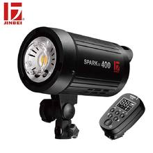 JINBEI SparkIII 400 400W Portable Strobe Flash GN66 with Built in Wireless Receiver LED Modeling Lamp Studio Wedding Commercial
