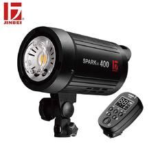 Jinbei SparkIII 400 400 w 휴대용 스트로브 플래시 gn66 내장 무선 수신기 led 모델링 램프 스튜디오 웨딩 상업